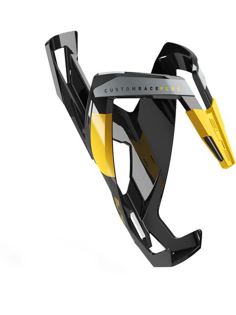 Elite Custom Race Plus Flaschenhalter schwarz glänzend/gelbe Grafik
